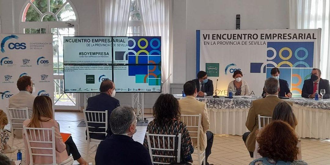 CENSUR junto con  las asociaciones empresariales  de la provincia apoyamos a la Confederación de Empresarios de Sevilla en el VI Encuentro Empresarial celebrado  en Lora del Rio.